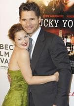 "<p>Actors Drew Barrymore and Eric Bana arrive to attend the premiere of the film ""Lucky You"" during the Tribeca Film Festival in New York, 01/05/07.</p>"