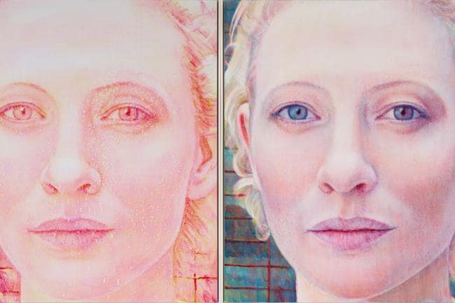 'Cate, take 1 / Cate, take 2,' Cate Blanchett, actor, by Tim Maguire (detail).