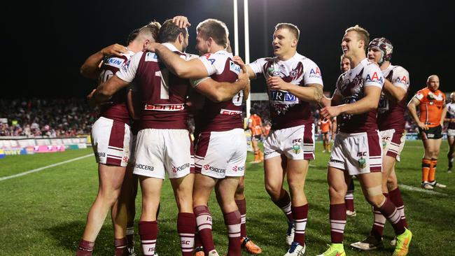 Manly players enjoy a close relationship with their fans at Brookvale.