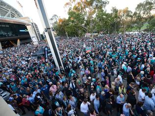 Fans leaving Adelaide Oval