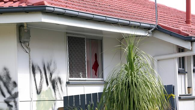 The home that was attacked. Picture: Marc Robertson/AAP