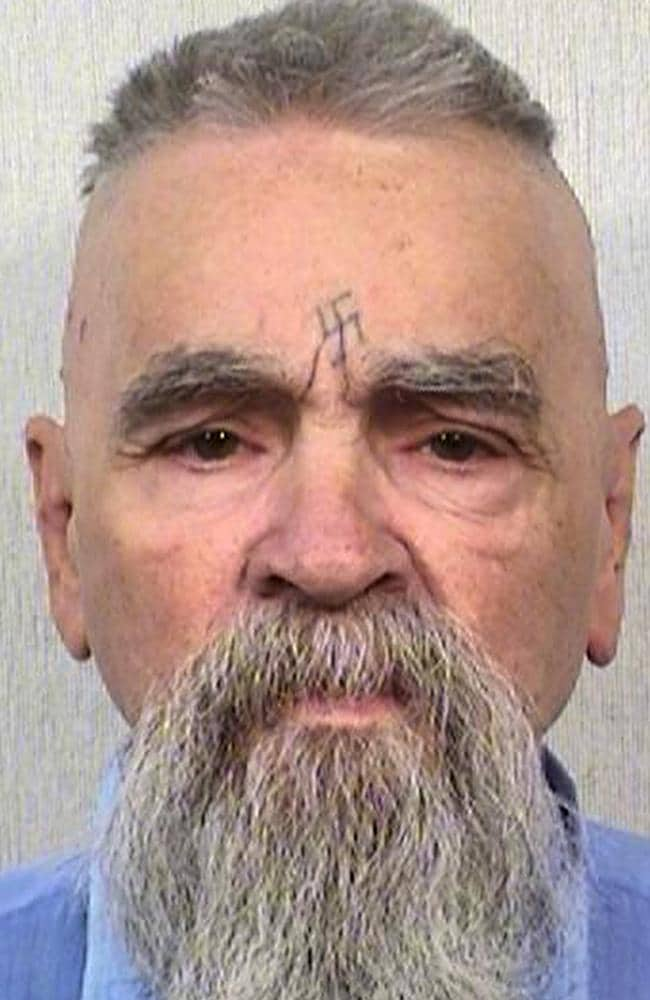 Charles Manson in 2014 in a photo provided by California Department of Corrections Picture: California Department of Corrections and Rehabilitation via AP