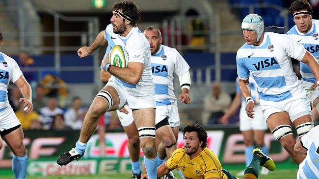 Argentina, led by captain Juan Martin Fernandez Lobbe, pushed the Wallabies on the Gold Coast in 2012. Picture: Adam Head