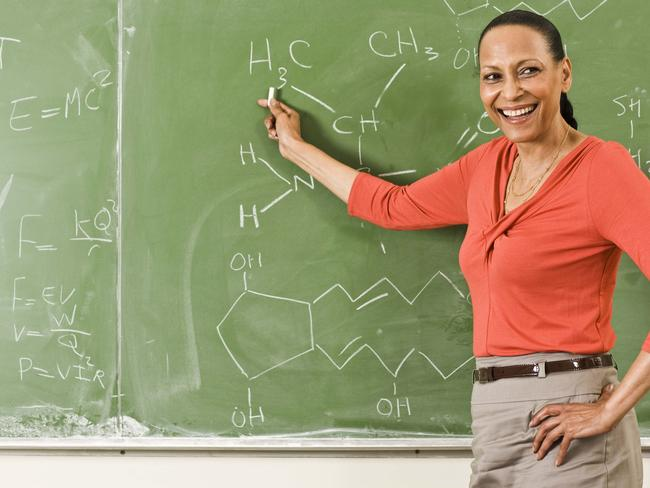 Pointing at the blackboard is fine. Pointing at a teacher, maybe not. Picture: Thinkstock