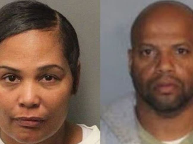 Sherra Wright-Robinson, left and deacon Billy Turner, right, arrested over death of NBA star Lorenzen Wright. Picture: Supplied