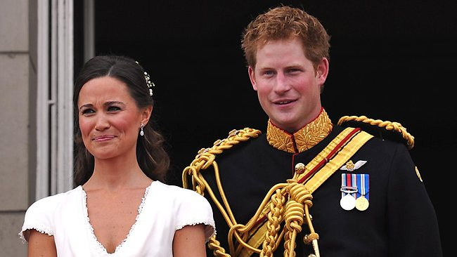 Best man Prince Harry and Maid of Honour Pippa Middleton. They almost outshone the bride and groom. Picture: Getty Images