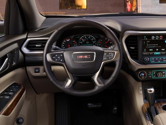 The interior of teh Acadia Denali.