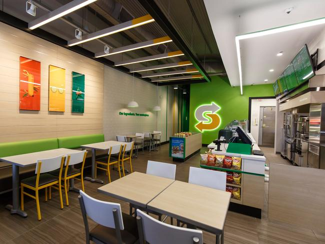 Inside the new-look Subway stores.