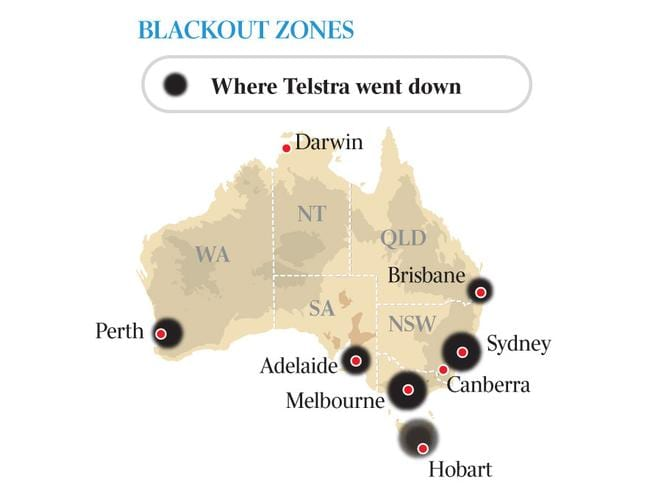 Telstra outage affected customers across Australia.