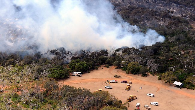The fire near Tulka, on the lower Eyre Peninsula near Port Lincoln. Picture: Mark Brake, on the Seven News helicopter