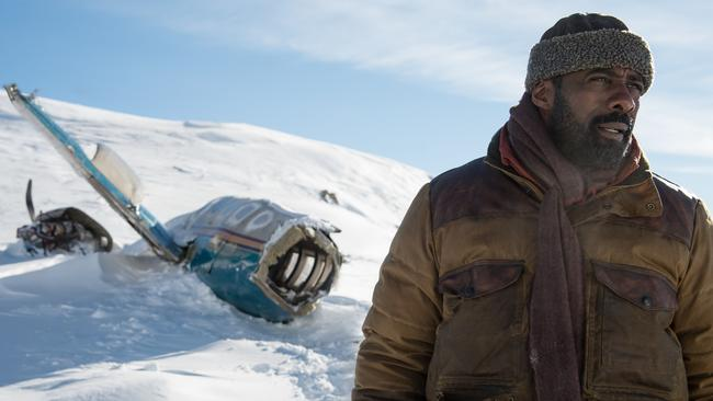 In a surprise musical number in The Mountain Between Us, Idris Elba sings 'There's No Business Like Snow Business'