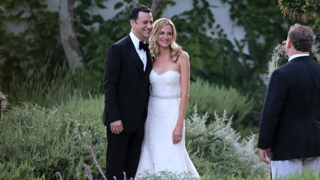 Jimmy Kimmel marries Molly McNearney in at the Ojai Valley Spa and Inn. Picture: Splash News