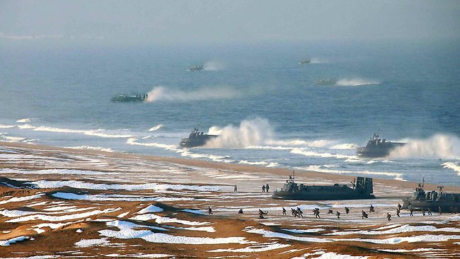 In this picture released in March experts claim most of the hovercrafts have been photoshopped.