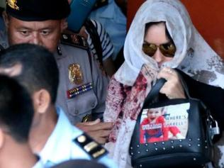 Bali.......Schapelle Corby leaves at the Prosecutors office in Denpasar a free woman. Image: Nathan Edwards