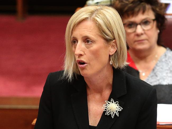 Senator Katy Gallagher citizenship status has been referred to the High Court. Picture Kym Smith