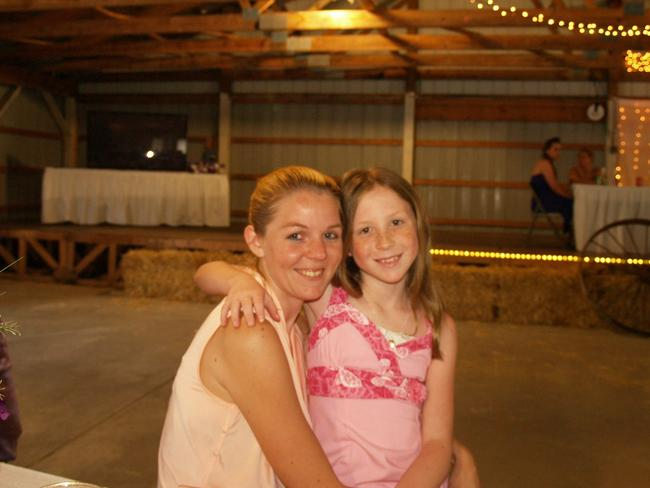 Young mother Anna Williams with Abby (above) was leading a normal life in small town Indiana until tragedy struck and her daughter, 13, and Libby German, 14, were murdered. Picture: Facebook