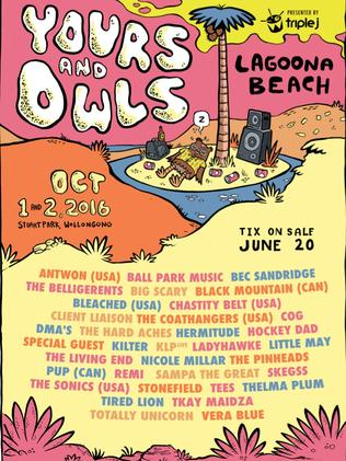 The line-up at Yours and Owls Festival is diverse. Picture: Supplied