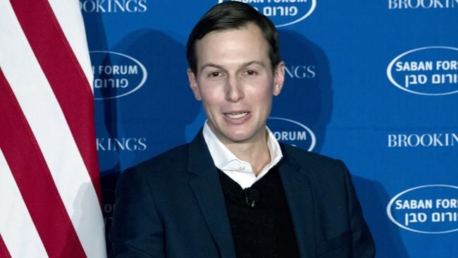 "President Donald Trump's White House Senior Adviser Jared Kushner says Trump ""continues to weigh his options"" ahead of an announcement on Jerusalem expected on Wednesday. Picture: AP/Luis Magana)"