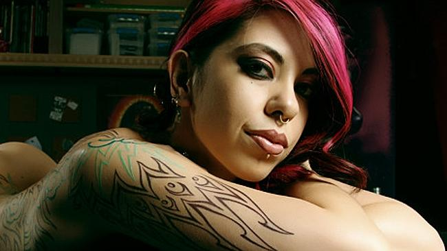 Artist and former porn star Satine Phoenix
