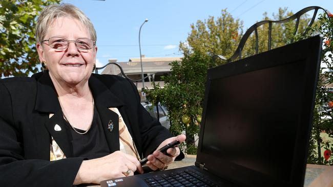 Brenda Aynsley was the first female national president of Australian Computer Society. She also opened South Australia's first internet cafe in the 1990s. Picture: Simon Cross