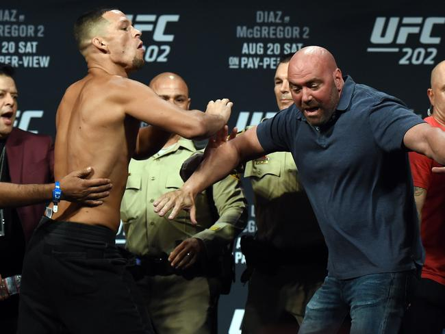 It's not the first time Dana has got in the way of Nate Diaz.