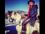 "No need for German model Heidi Klum to cheer up, she's got ""Charlie."" Picture: Instagram"