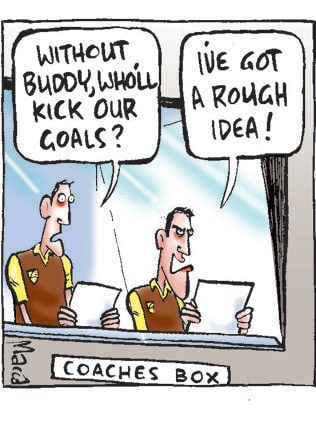 Macca's view on Hawthorn's goal kicking strategy against Essendon.