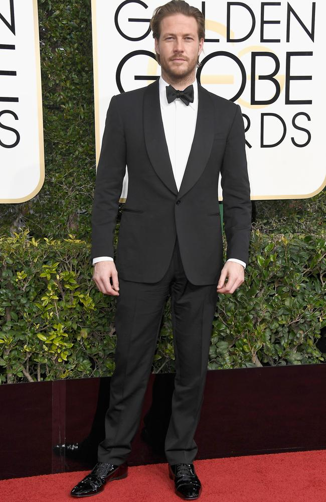 Suited up at the Golden Globes earlier this year. Picture: Getty Images