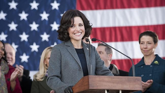 "Julia Louis-Dreyfus is hilarious in the comedy series ""Veep."""