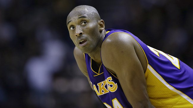 Kobe Bryant knows his team is up against it after going down to the Spurs. Picture: AP