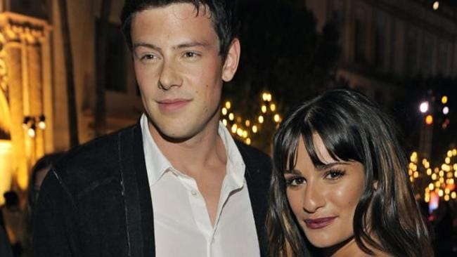 "Cory Monteith, left, and Lea Michele, cast members in ""Glee,"" pose together at the television show's second season premiere in Los Angeles, Monday, Sept. 7, 2010. (AP Photo/Chris Pizzello)"