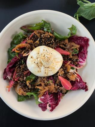 The black barley and fennel salad. Picture: Jenifer Jagielski