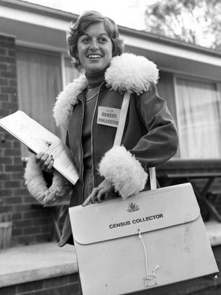 Collector Rosalind Dean, 21, at the 1976 Census.