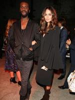 Singer Gary Clarke Jr and model Nicole Trunfio attend the Mercedes-Benz Presents Ellery show at Mercedes-Benz Fashion Week Australia 2015 at Carriageworks on April 12, 2015 in Sydney, Australia. Picture: Getty