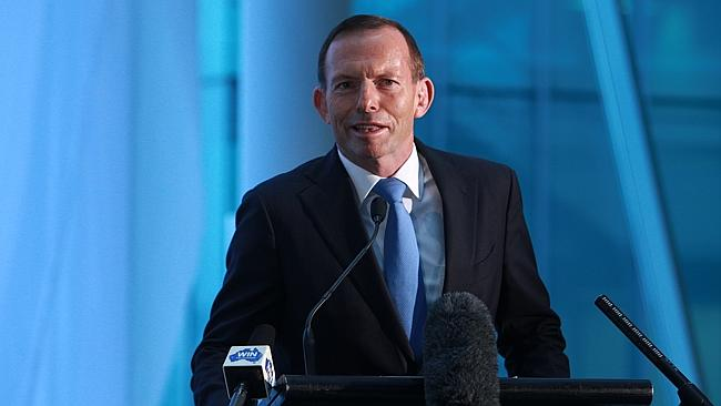 PM Tony Abbott official opening of the remodelled and expanded Canberra Airport terminal.