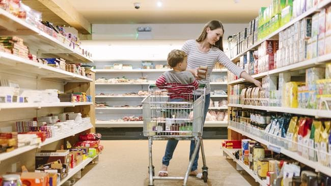 Children can make a trip to the supermarket more expensive.