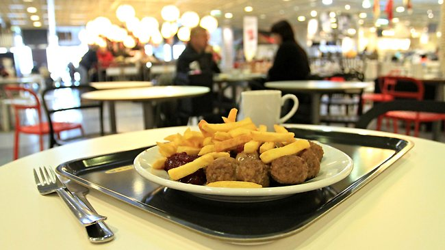 This picture taken on February 25, 2013 shows meatballs at IKEA department store in Brno. Ikea pulls meatballs from 14 European countries after horsemeat was found in the product by Czech authorities. AFP PHOTO/ RADEK MICA