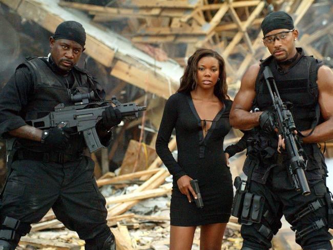 Martin Lawrence with Gabrielle Union and Will Smith in Bad Boys II.