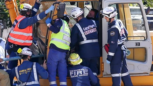 This construction worker was impaled by a steel rod while at work in Lindfield, Sydney.