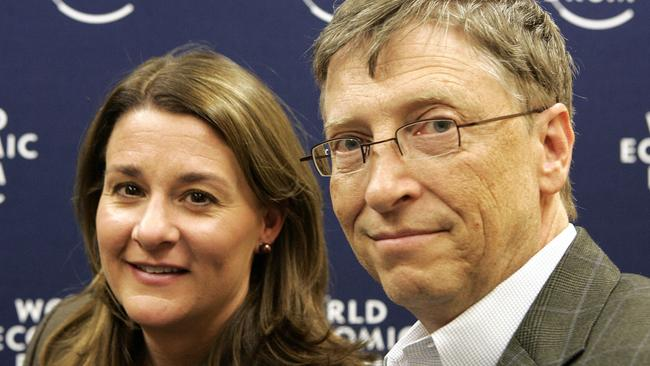 Bill and Melinda Gates. Picture: Michel Euler/AP Photo