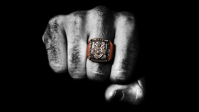 One of the disputed 2007 premiership rings. Picture: Phil Hillyard