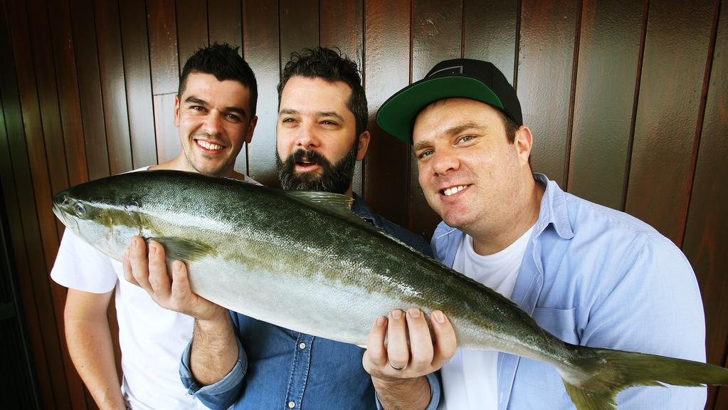 Chefs Ollie Hansford, Ben Williamson and Jake Nicolson will be cooking up a storm at Noosa Food and Wine Festival. Picture: Claudia Baxter