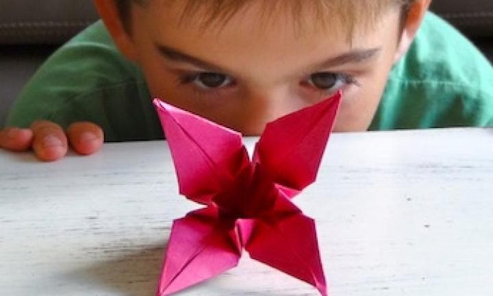 how to make an origami lily easy origami for kids kidspot