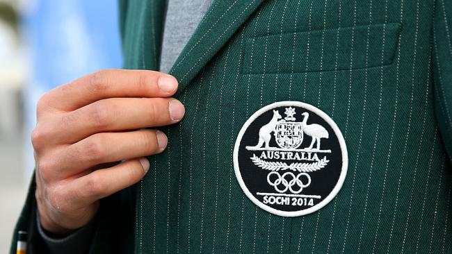The Australian team logo on the formal uniform Picture: Getty Images