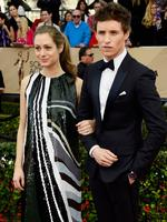 Publicist Hannah Bagshawe and The Danish Girl star Eddie Redmayne at the 22nd Annual Screen Actors Guild Awards. Picture: Frazer Harrison/Getty Images