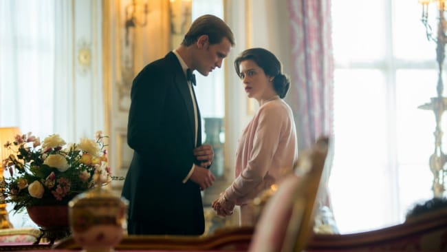 Trouble in paradise for Prince Philip and The Queen. Photo: Netflix