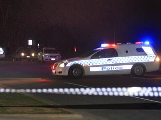 Crime scene Shepparton. A view of the crime scene in Shepparton where police shot a knife wielding woman.