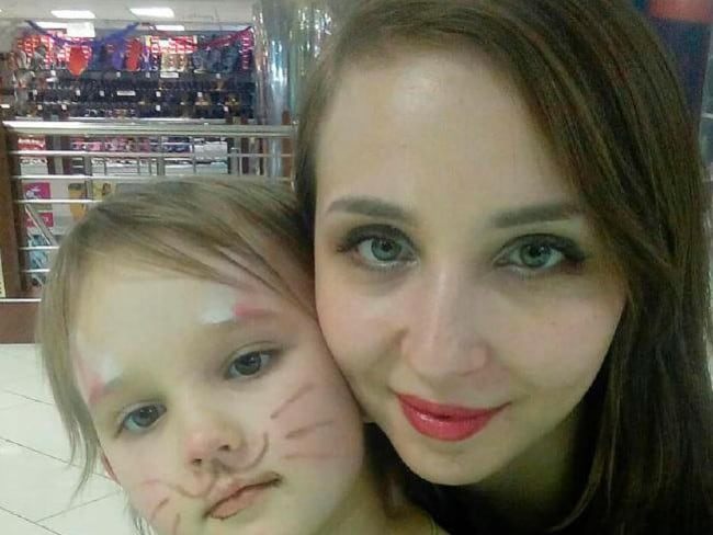 Nadezhda Krasova, five, died with her mum Oksana Krasova. Pictured: Supplied