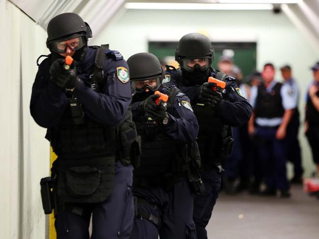 Anti-terror cops at Sydney's Central Station. Picture: Supplied
