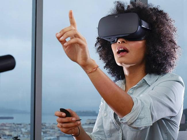 The Oculus Rift virtual reality headset offers an advanced, interactive experience, and began shipping to consumers in March this year. Picture: Supplied
